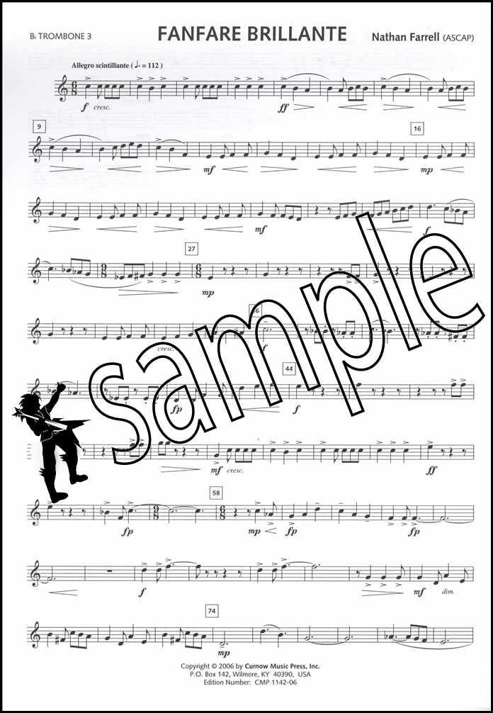 Details about Fanfare Brillante for Trombone Quartet Score & Parts Sheet  Music Book Bb Bass C