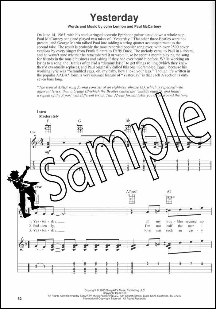 Details about The Beatles for Fingerstyle Ukulele TAB Music Book 25 Solos