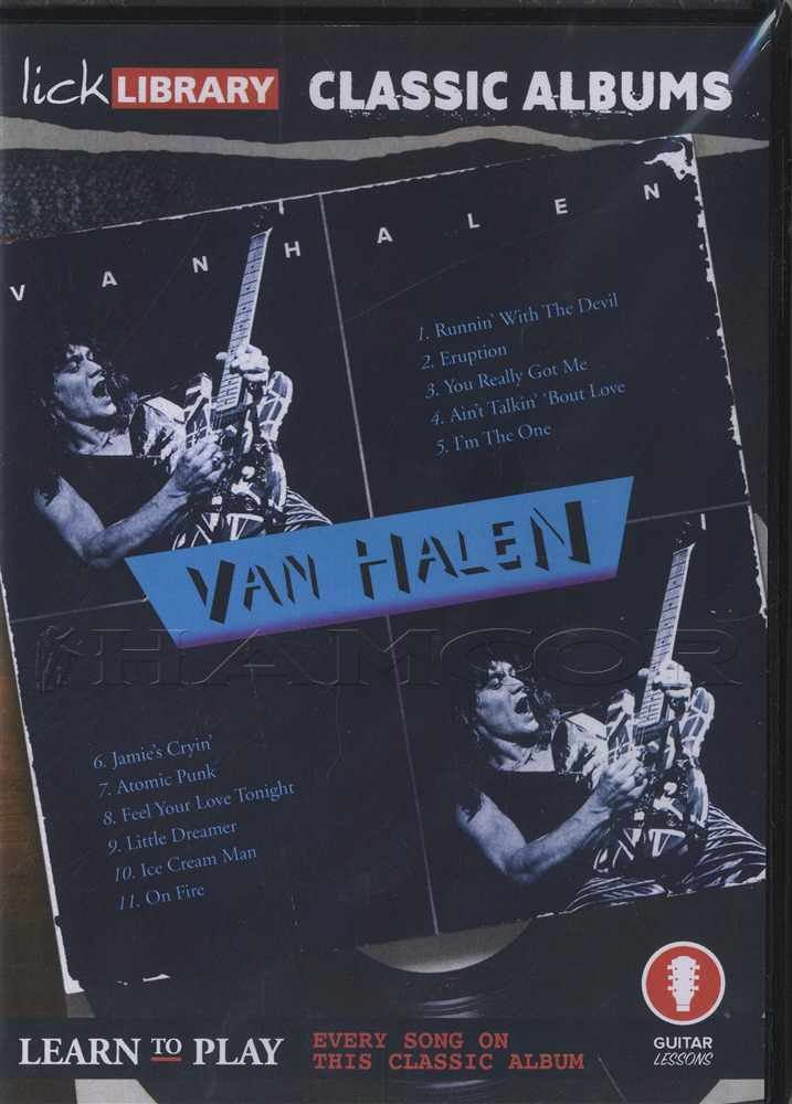 Details about Lick Library Classic Albums Van Halen Guitar Tuition DVD  Jamie's Crying Eruption