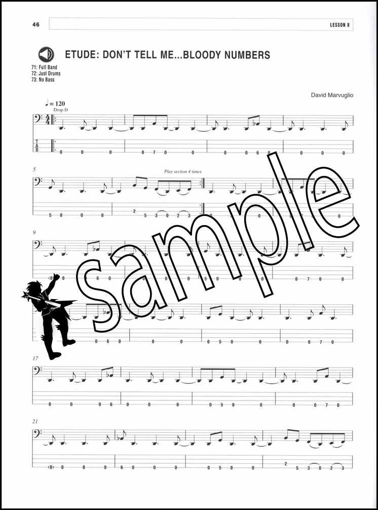 Details about Metal Bass Guitar Lines TAB Music Book with Audio David  Marvuglio