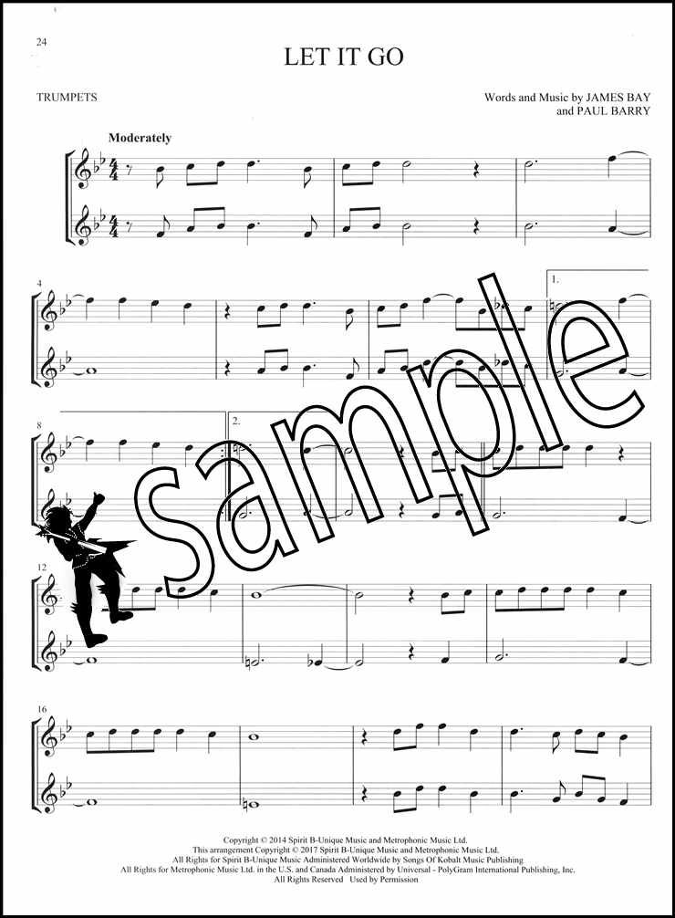 Details about Hit Songs for Two Trumpets Easy Instrumental Duets Trumpet  Sheet Music Book