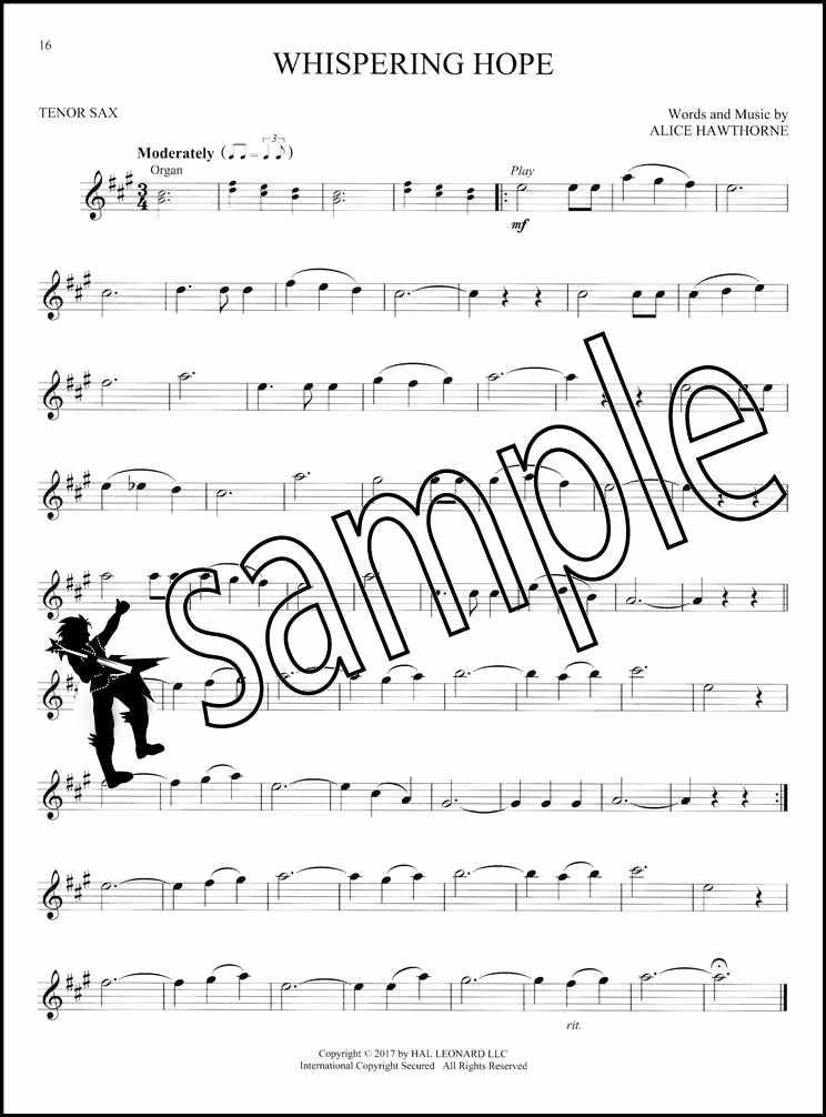 Details about Gospel Hymns Instrumental Play-Along Tenor Saxophone Sax  Sheet Music Book/Audio