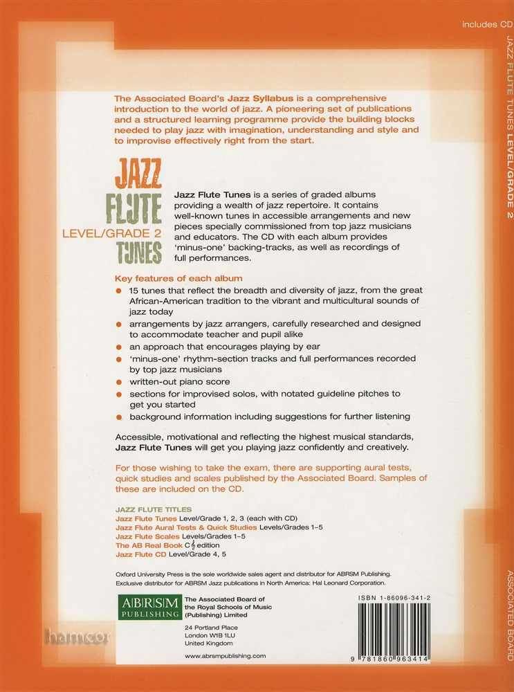 Details about Jazz Flute Tunes Level/Grade 2 Sheet Music Book/CD ABRSM Exam  SAME DAY DISPATCH