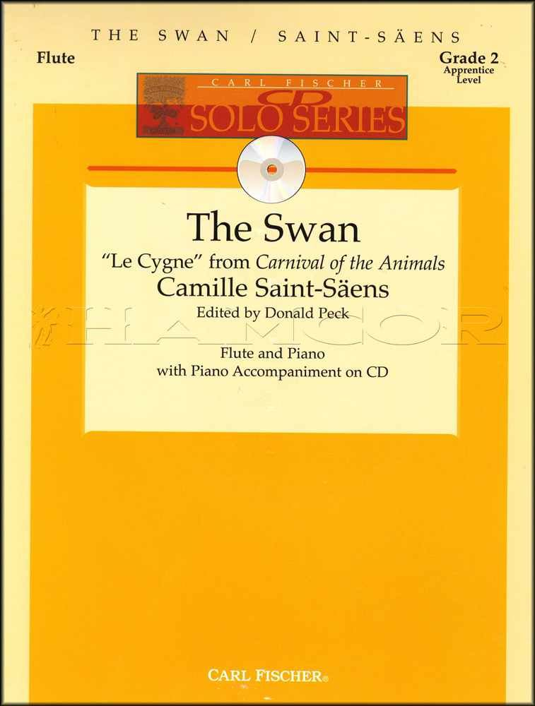 Details about The Swan for Flute and Piano Shet Music Book/CD Camille  Saint-Saens Classical