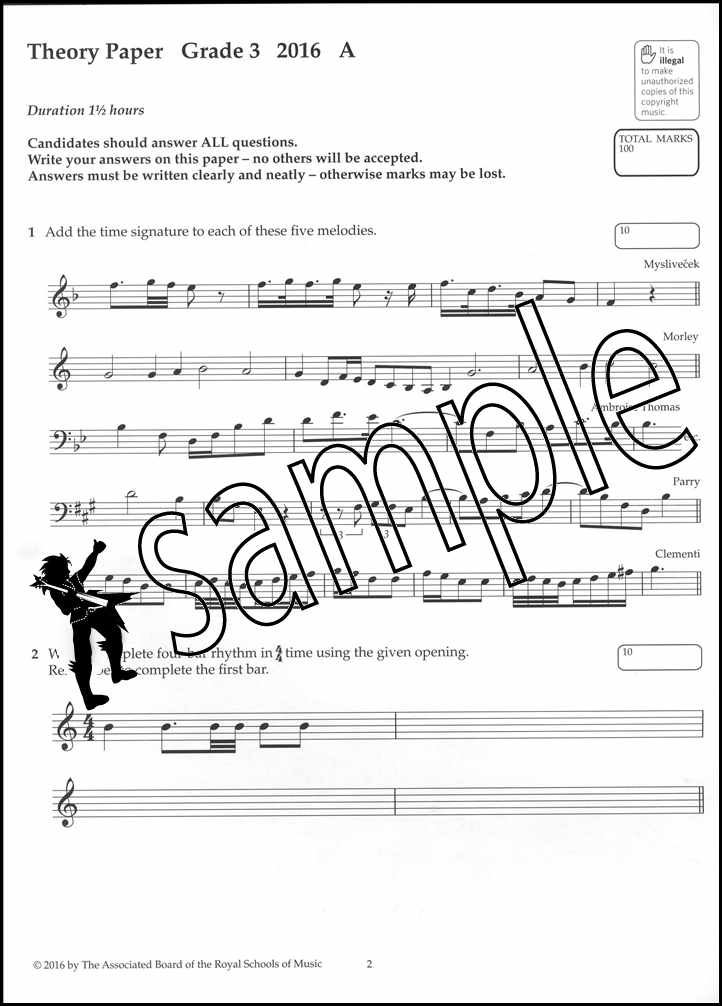 Details about ABRSM Music Theory Past Papers 2016 Grade 3 Exams Tests Sheet  Music Book