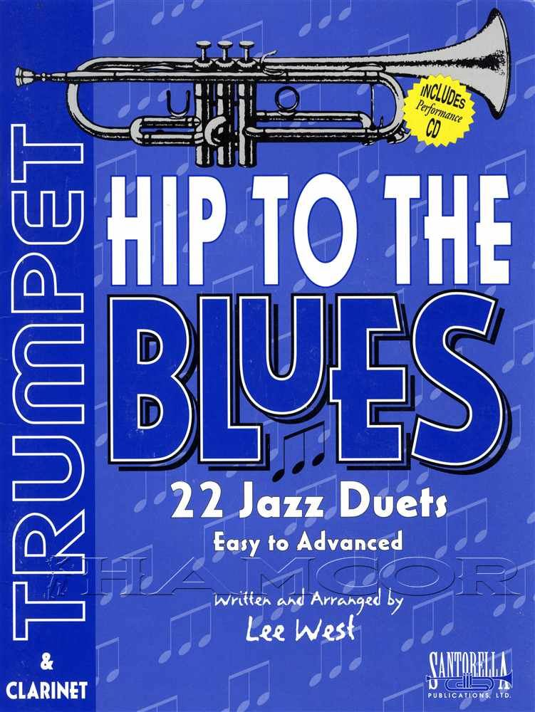 HIP TO THE BLUES Trumpet Duets Book /& CD