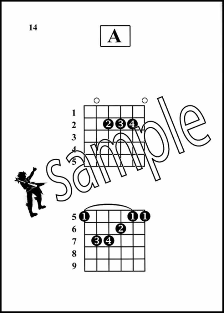 rock guitar chords made easy large print edition chord book Guitar Chord Positions click on the image to enlarge zoom in