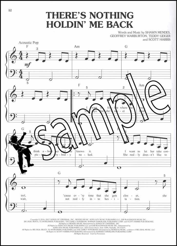 Details about Chart Hits of 2017-2018 Big-Note Piano Sheet Music Book Ed  Sheeran DJ Khalid