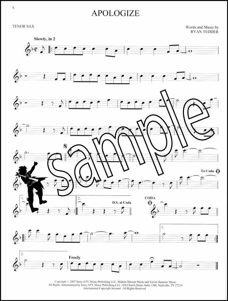 Details about 101 Hit Songs for Tenor Sax Saxophone Sheet Music Book Perry  Lady Gaga