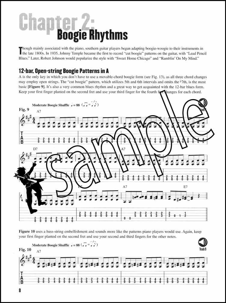 Beginning Blues Guitar TAB Music Book & Audio Guide to