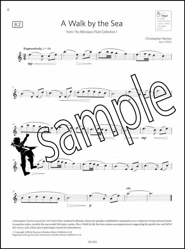 Musical Instruments Flute Exam Pieces 2018-2021 Abrsm Grade 2 Sheet Music Book With Audio