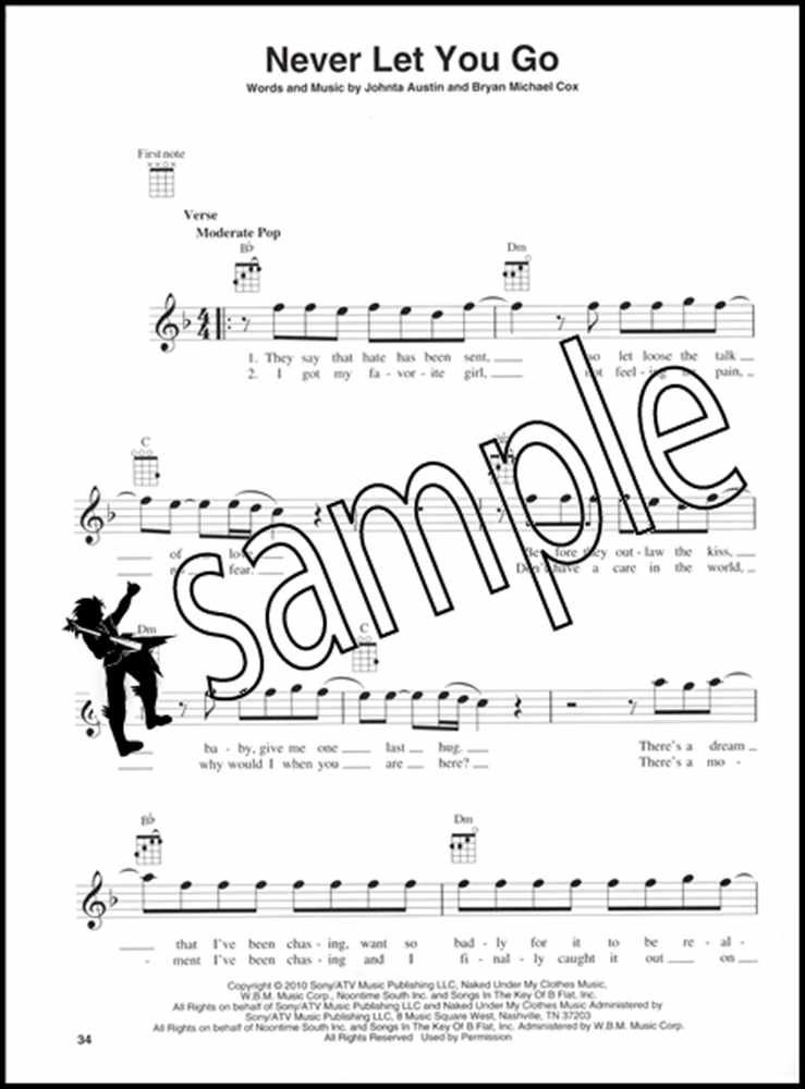 Justin Bieber for Ukulele Chord & Melody Songbook Music ...