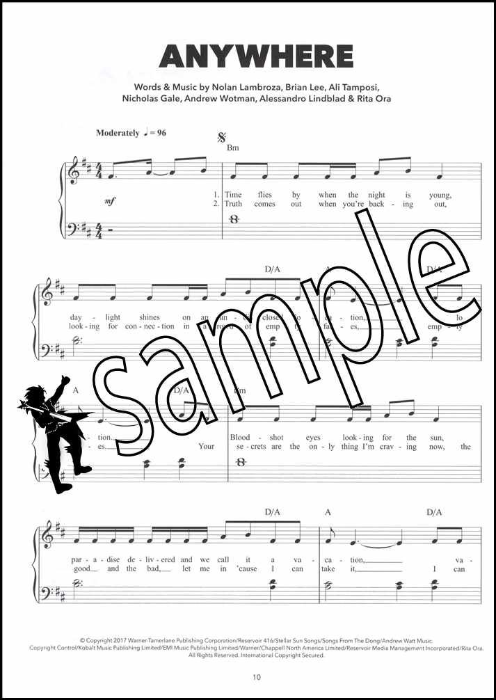 Best Of Pop 2016-2018 Easy Piano Sheet Music Book Bruno Mars