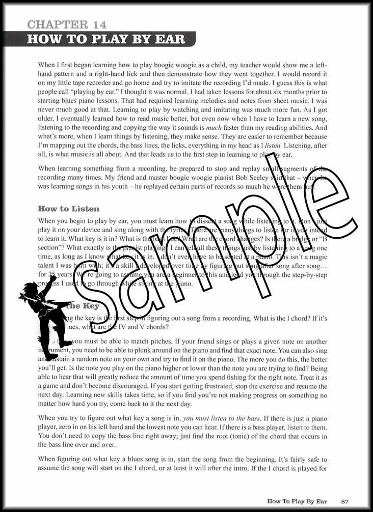 How To Play Boogie Woogie Piano Sheet Music Book with Audio Learn Method