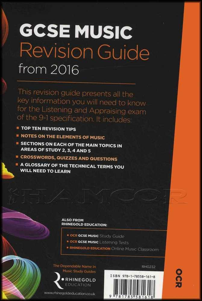 A Level Music Revision Guide OCR From 2016 Sheet Music Reference Book Exam Tests