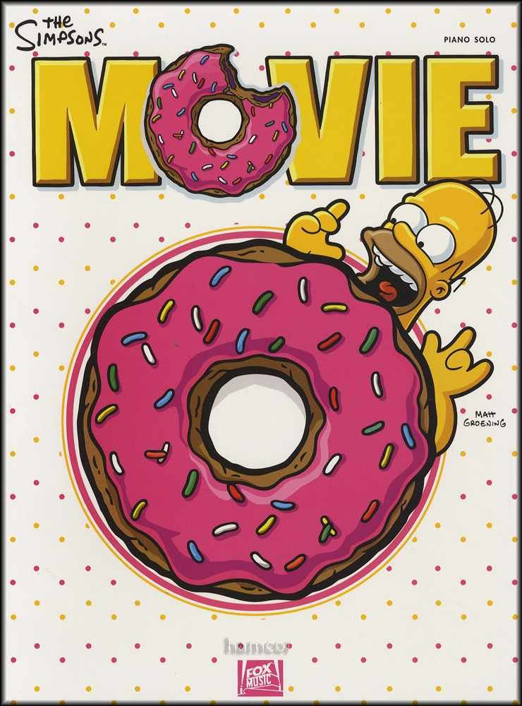 The Simpsons Movie Piano Solo Sheet Music Book Film Soundtrack 9781423451983 Ebay