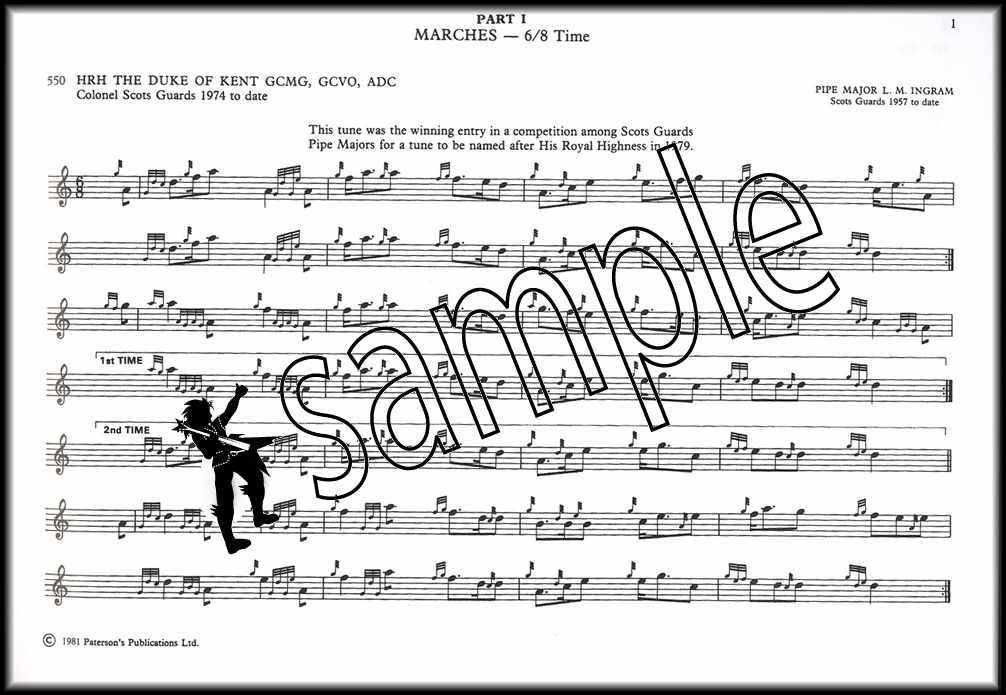 Scots Guards Standard Settings of Pipe Music Volume 1 Bagpipe Sheet Music Book
