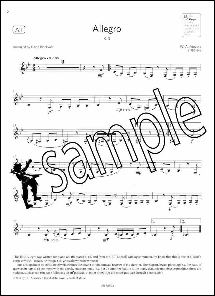 ABRSM Grade 2 Clarinet Clarinet Exam Pack 2018–2021 Piano Accompaniment ABRSM