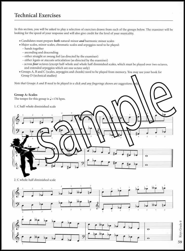 Rockschool Keys Grade 6 Keyboard from 2019 Book//Audio Exam SAME DAY DISPATCH