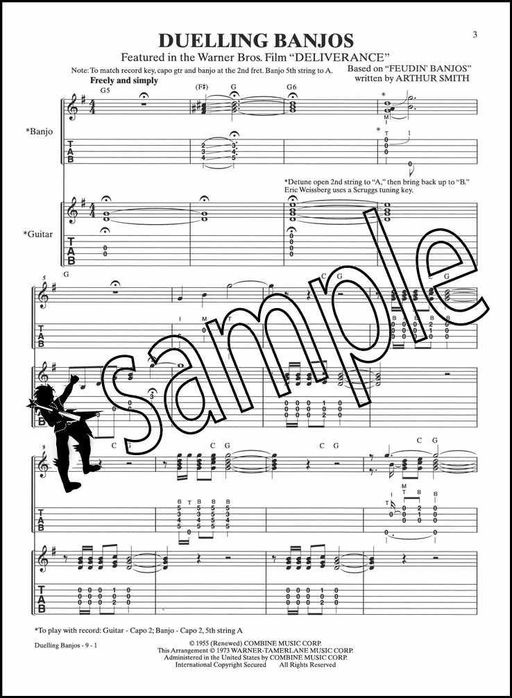 Details about Duelling Banjos Banjo TAB & Guitar TAB Music Booklet Sheet  Music Deliverance