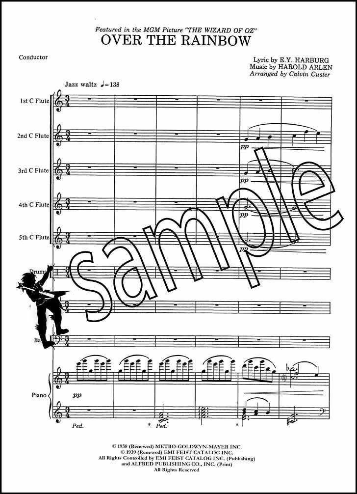 Surprising Over The Rainbow For Flute Choir Score Parts Sheet Music Book Wiring Database Gramgelartorg