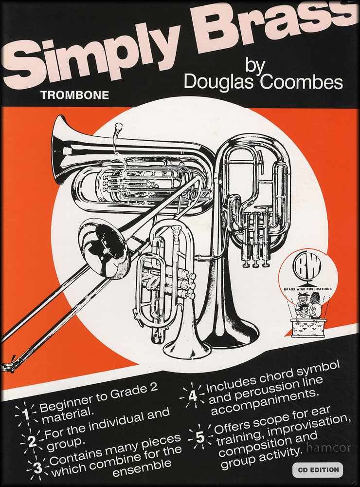simply brass for trombone sheet music book cd bass clef ebay. Black Bedroom Furniture Sets. Home Design Ideas