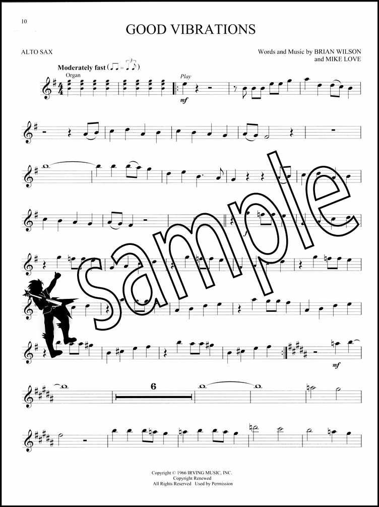 Classic Rock for Alto Sax Easy Instrumental Play-Along Music Book /& Audio