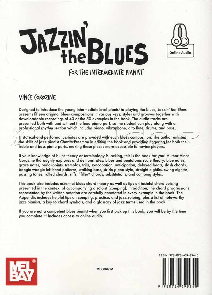 Details about Jazzin' The Blues for the Intermediate Pianist Piano Sheet  Music Book with Audio