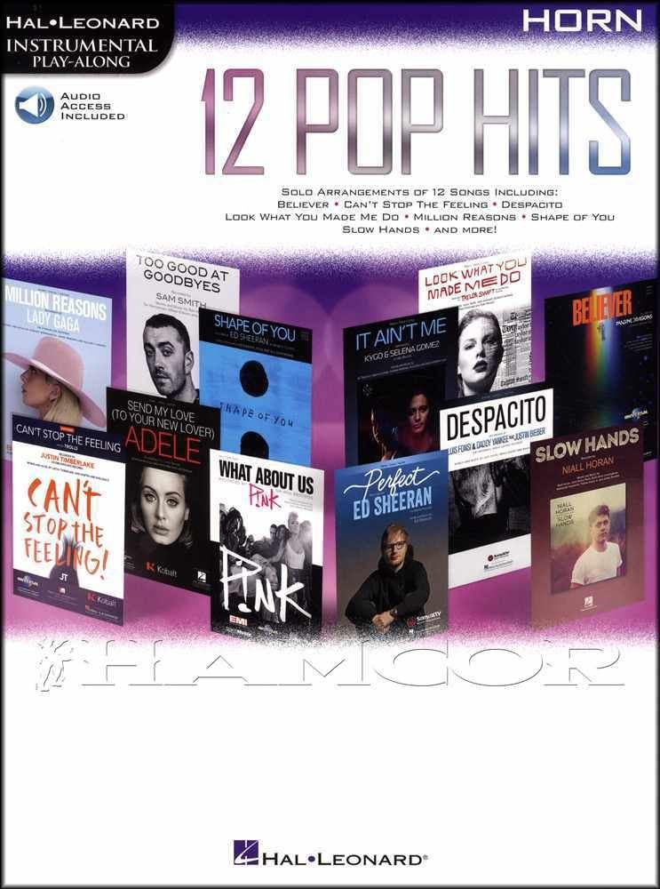 Instruction Books, Cds & Video Playalong Top Hits Play Justin Bieber Adele Chart Horn Music Book Online Audio Brass