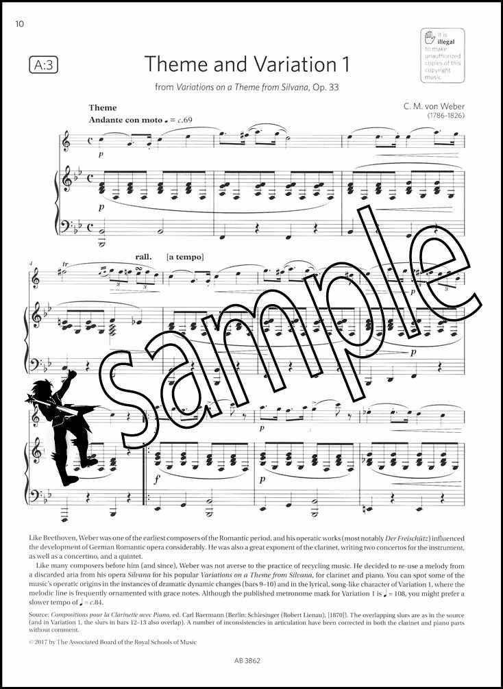 clarinet exam pieces 20182021 abrsm grade 5 sheet music