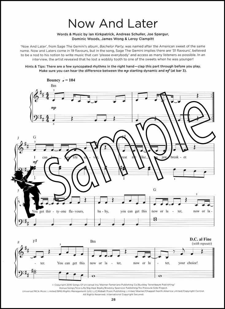 Details about Really Easy Piano Chart Hits 4 Spring/Summer 2017 Sheet Music  Book and Audio Pop