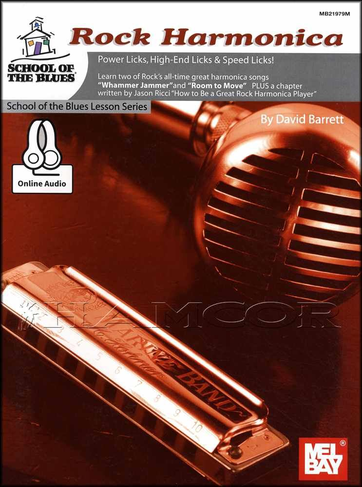 Details about Rock Harmonica Sheet Music Book/Audio Learn How To Play  School Of The Blues