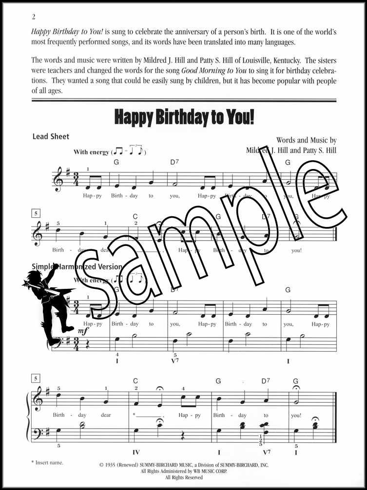 Happy Birthday To You Early Intermediate Piano Sheet Music Ebay