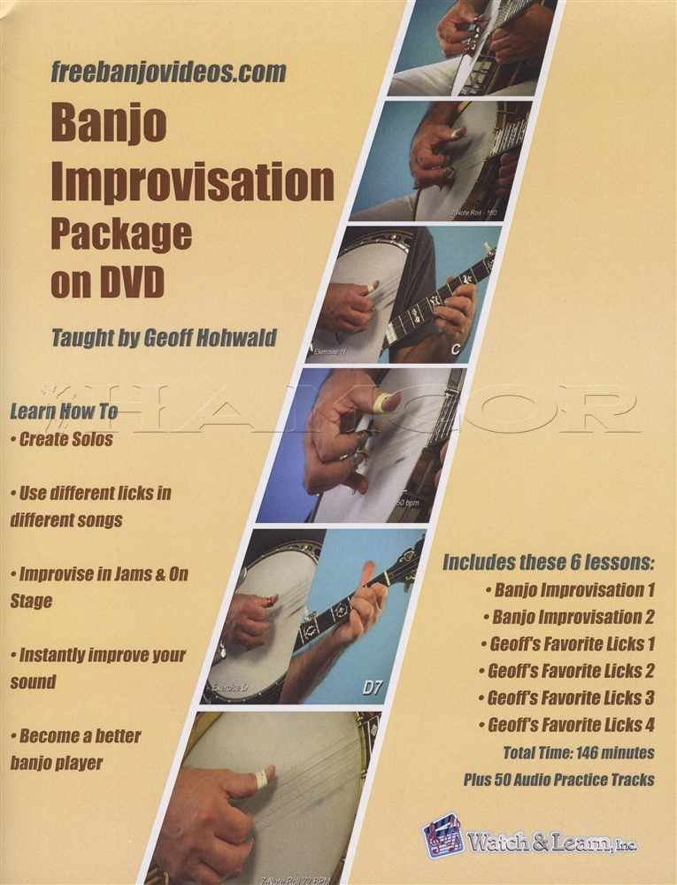 Details about Banjo Improvisation Package TAB Book with DVD Learn How To  Play 5 String Method