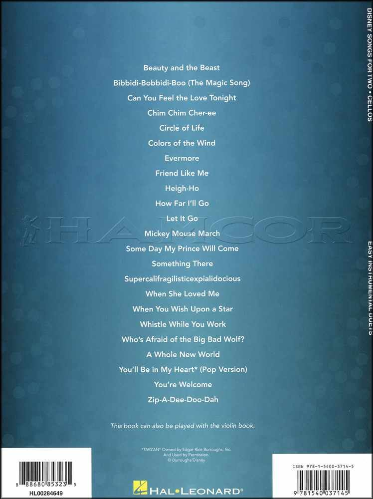 Details about Disney Songs for Two Cellos Sheet Music Book Easy Duets SAME  DAY DISPATCH