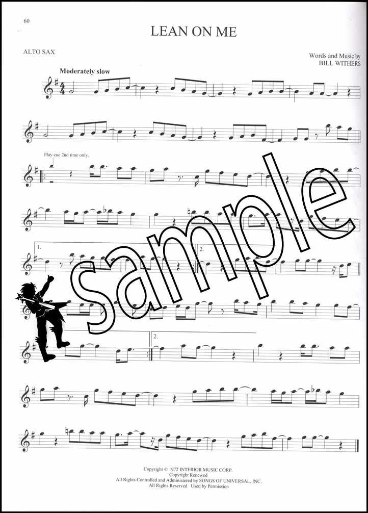 101 Popular Songs for Tenor Sax Saxophone Sheet Music Book Michael Jackson
