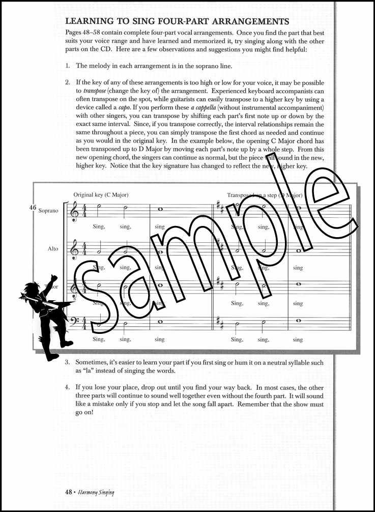 Details about Harmony Singing Vocal Sheet Music Book with CD Learn How To  Sing Vocal Method