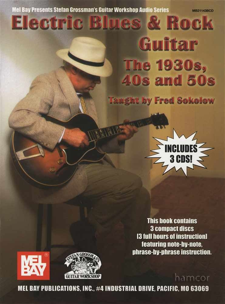 electric blues rock guitar the 1930s 40s 50s tab music book 3cds 9780786674886 ebay. Black Bedroom Furniture Sets. Home Design Ideas