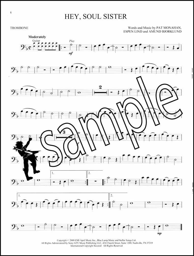 Details about Simple Songs Trombone Instrumental Play-Along Sheet Music  Book/Audio Adele