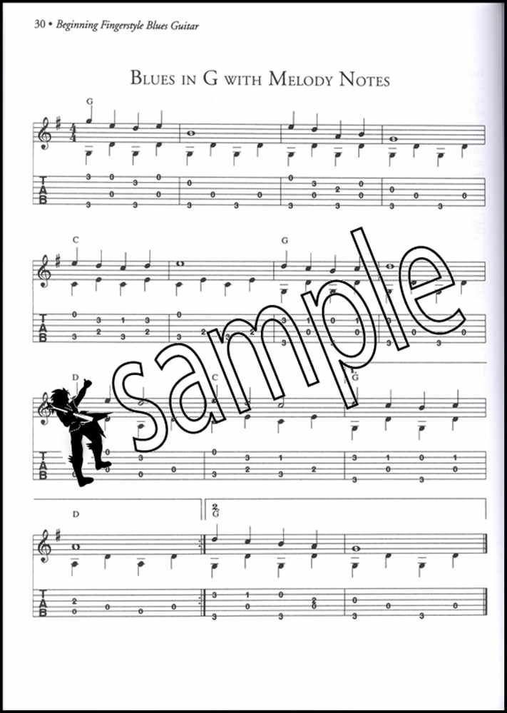 Details about Beginning Fingerstyle Blues Guitar TAB Music Book & CD  Step-By-Step Method