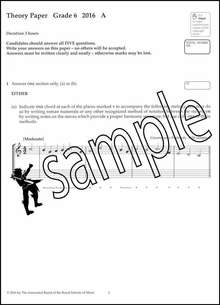 ABRSM Music Theory Past Papers 2016 Grade 4 Exams Tests Sheet Music Book