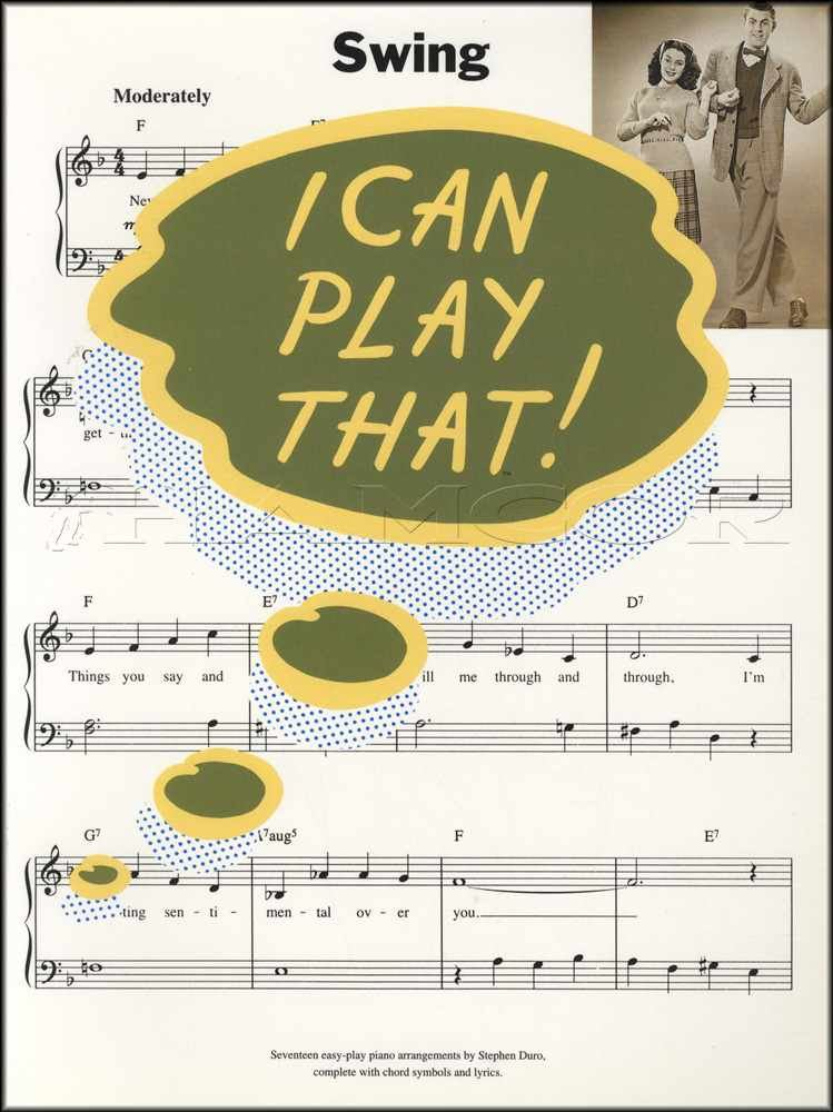Details about I Can Play That Swing Piano Sheet Music Book Lazy River Night  Train Tequila