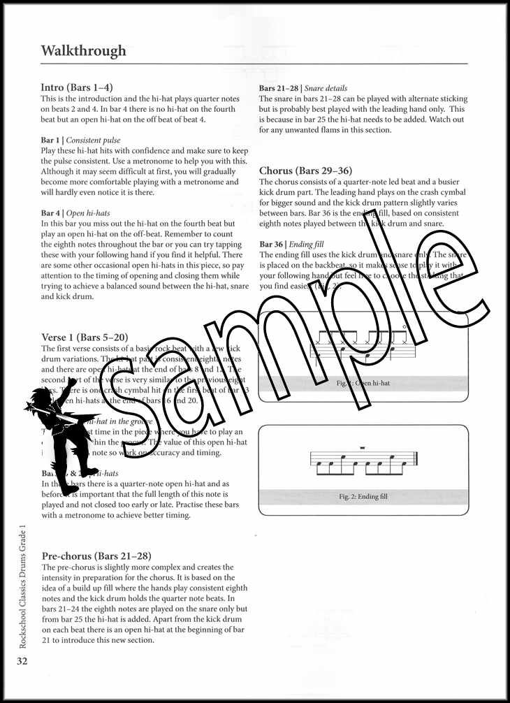 Details about Rockschool Classics Drums Grade 1 Sheet Music Book/Audio Muse  Oasis Police Free