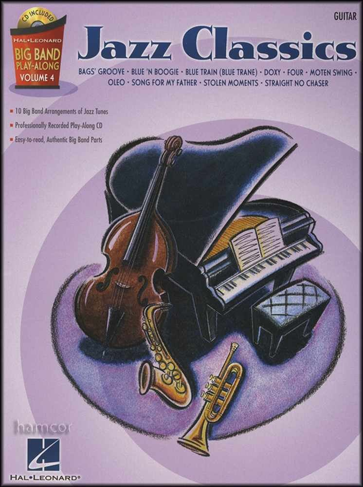 jazz classics big band play along guitar music book backing tracks cd 9781423449881 ebay. Black Bedroom Furniture Sets. Home Design Ideas