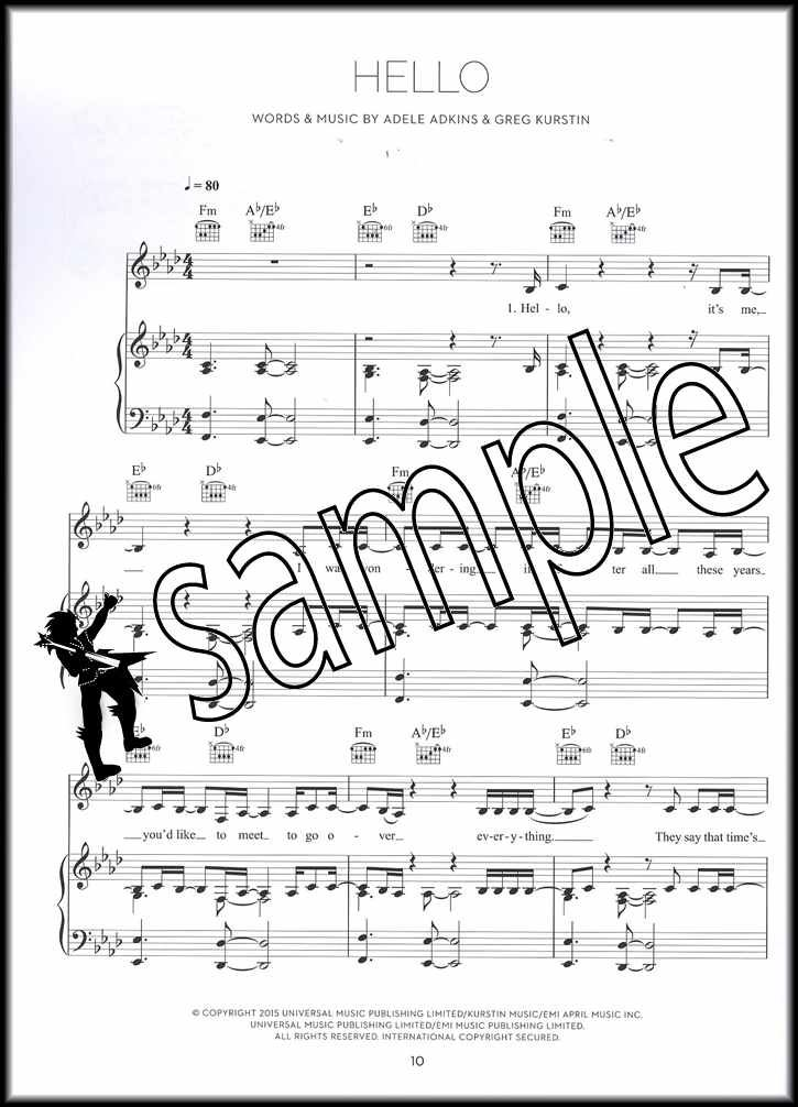 Details About Adele 25 Piano Vocal Guitar Sheet Music Book Hello Million Years Ago Remedy