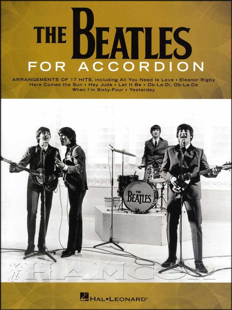 The Beatles for Accordion Sheet Music Book