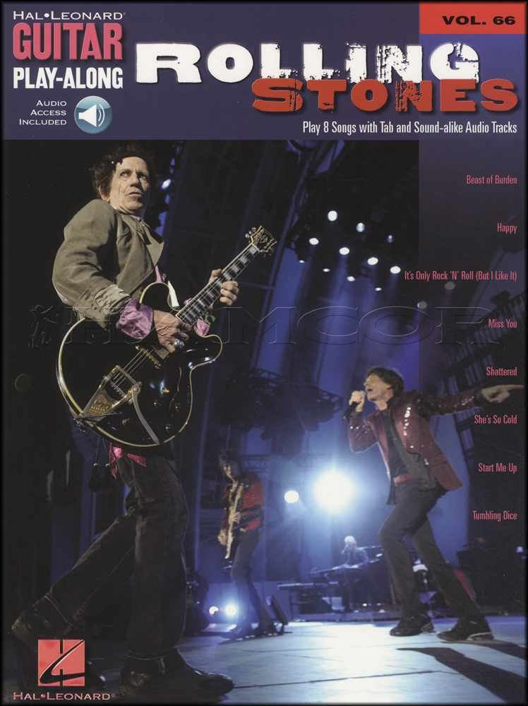 The Rolling Stones Ultimate Guitar Play-Along TAB Music Book//2CDs