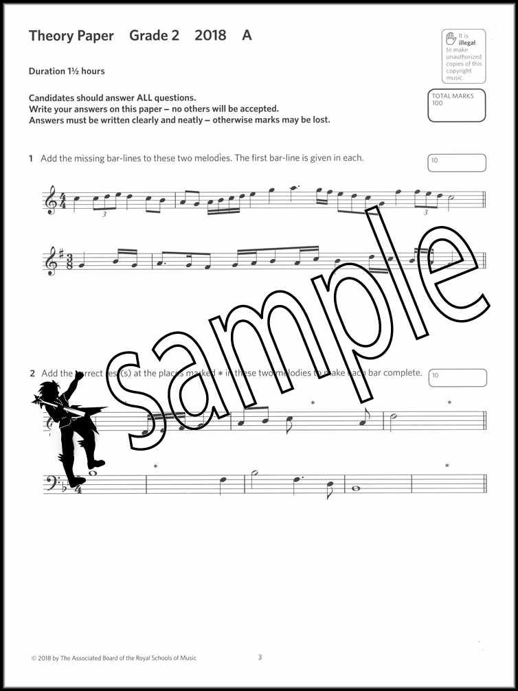 Details about Music Theory Practice Papers 2018 ABRSM Grade 2 Past Exams  SAME DAY DISPATCH
