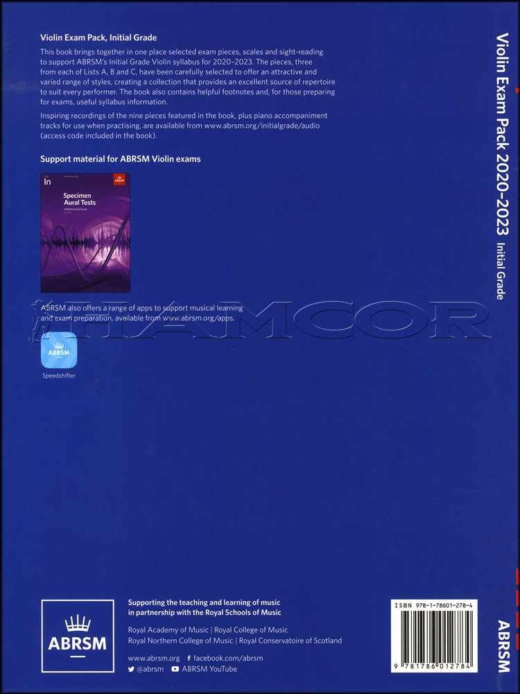 Details about Violin Exam Pack 2020-2023 Initial Grade ABRSM Test  Book/Audio SAME DAY DISPATCH