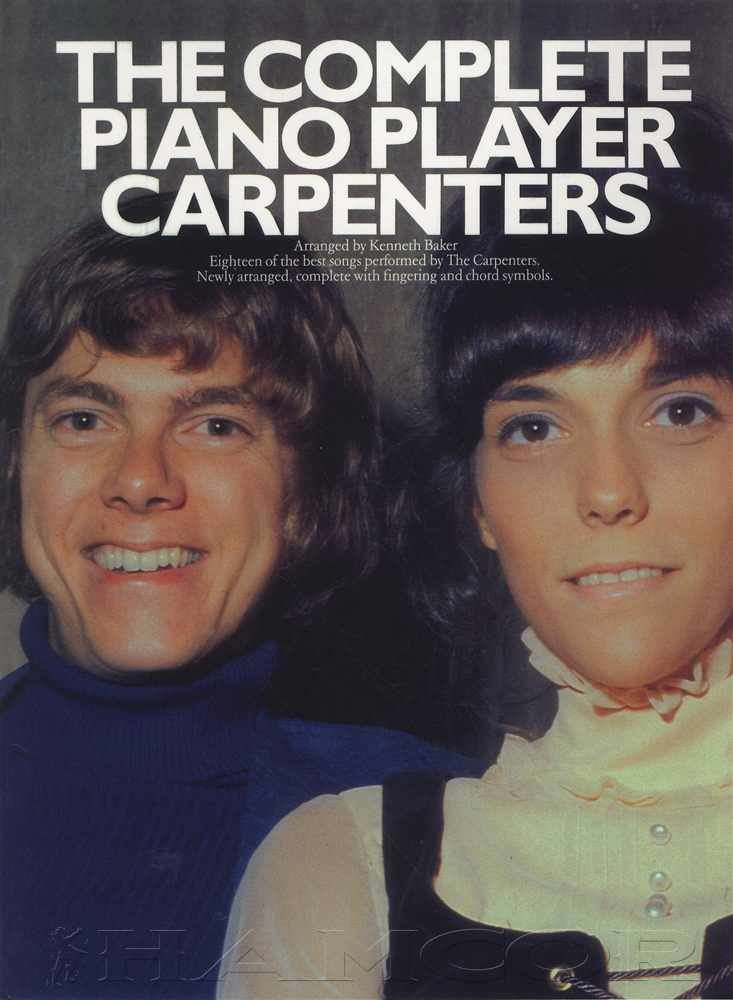 Details about The Complete Piano Player Carpenters Sheet Music Book 18  Songs Chords & Lyrics
